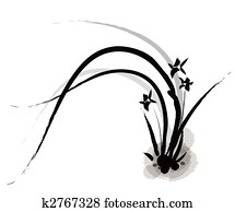 chinese painting of orchid
