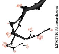 chinese painting of plum flower