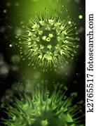 Flu virus concept