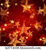 golden stars in red