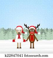 Reindeer and Christmas lamb
