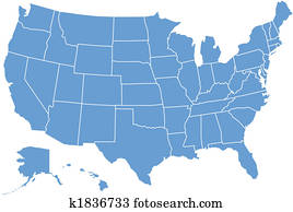 usa map by states
