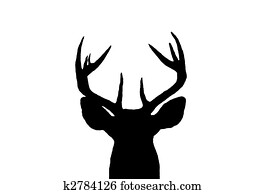 Whitetail Deer Buck Silhouette
