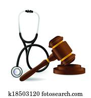 medical law concept illustration design