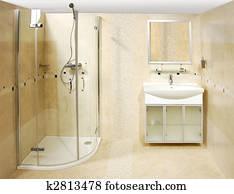 The luxury bathroom