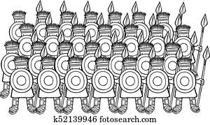 Army of Philistine Soldiers