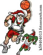 santa claus basketball