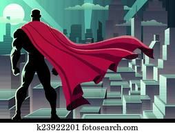 superhero, uhr, 3