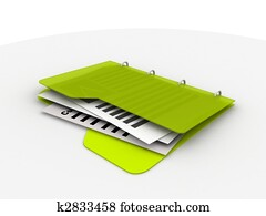 folder with resume
