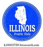 Illinois stamp