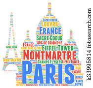 Paris word cloud