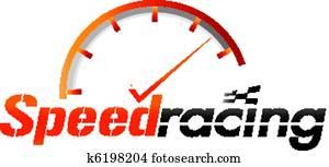 Speed racing logo