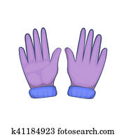 Stock Photo of Mature woman wearing leather gloves and