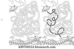 Birds maze