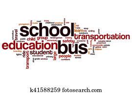 School bus word cloud