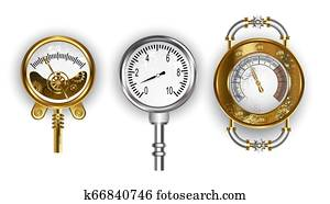 Three manometers