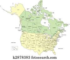 USA 50 States and Canada, Names
