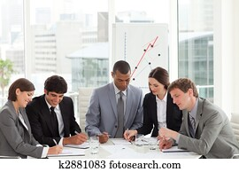 Business team studying a budget plan