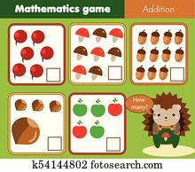 Counting game how many object of air transport for preschool