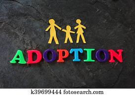 Family adoption concept
