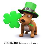 3d St Patricks puppy