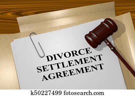Divorce Settlement Agreement concept