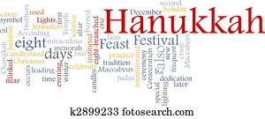 Hanukkah word cloud
