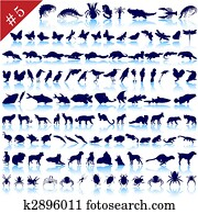 set of animal silhouettes