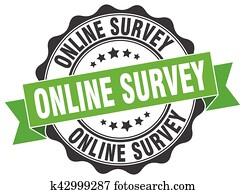 online survey stamp. sign. seal