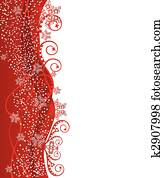 Red Christmas border design