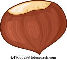 Kastanie Clip Art Und Illustrationen 5 342 Kastanie Clipart Vector