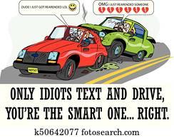 Text crash idiots