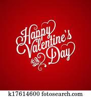 valentines tag, altmodisch, schriftzug, hintergrund