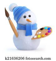 3d Snowman artist