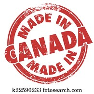 Made in Canada Red Round Stamp Product Pride Manufacturing