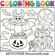 Coloring Book Candy And Cakes Clipart K7474324 Fotosearch