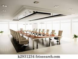conference room 3d render