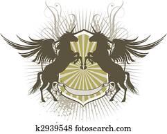 Pegasus shield