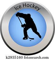 winter game button ice hockey