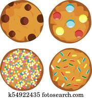 vector cookies