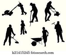 Clipart Of Sign Broom Cartoon People Sweeper Trade