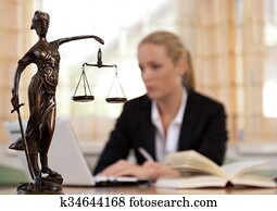 lawyer in the office