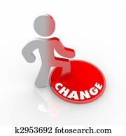 Person Stepping Onto Change Button
