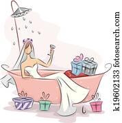 braut dusche