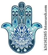 Decorative illustration of hamsa