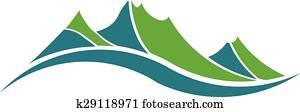 grüne berge, logo