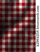 red picnic cloth