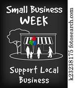 Small Business Week Chalk Board