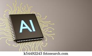 Computer Processor Artificial Intelligence Concept
