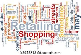Retailing word cloud